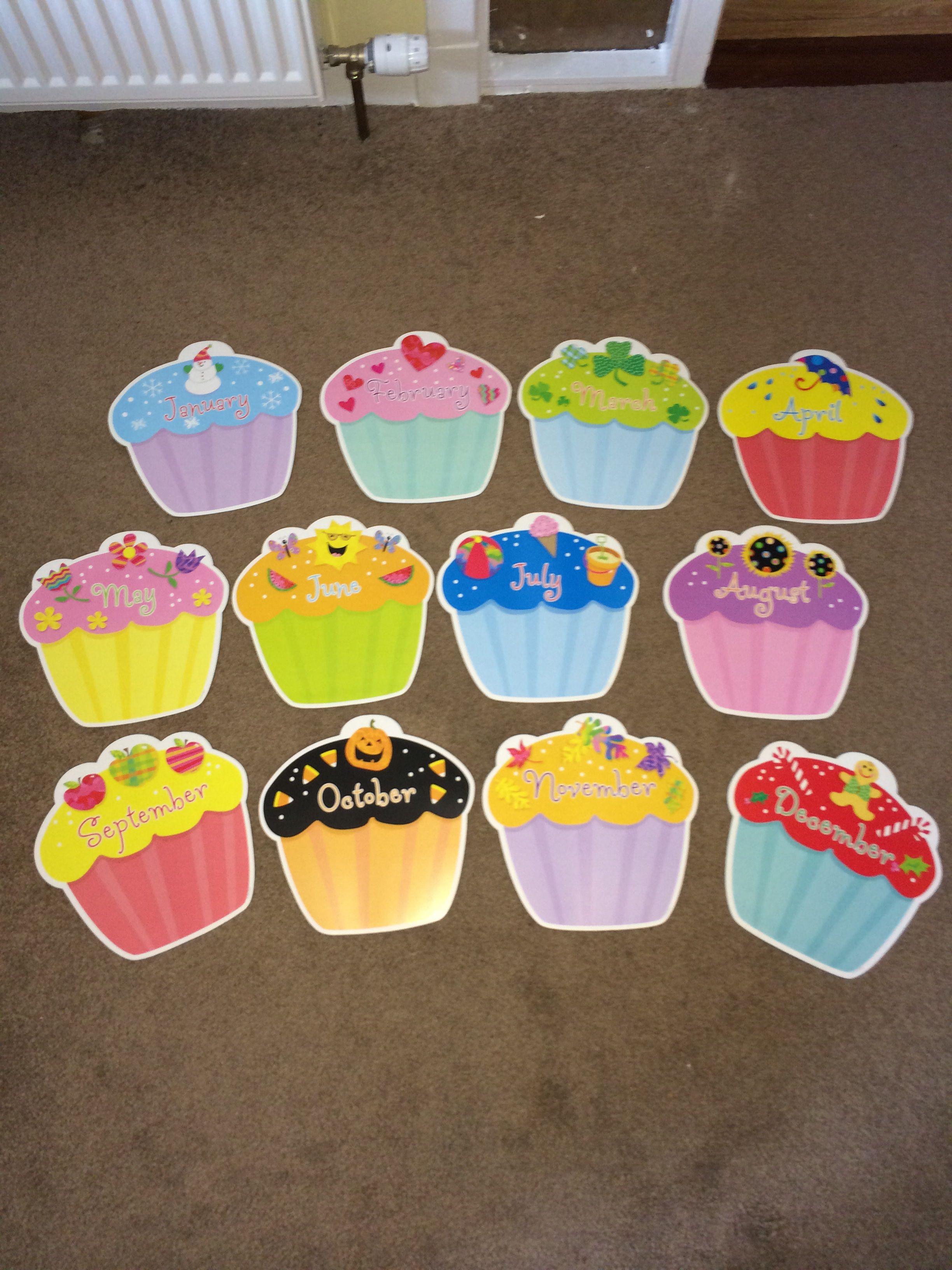 Birthday Cupcakes Classroom Display Classroom Organization