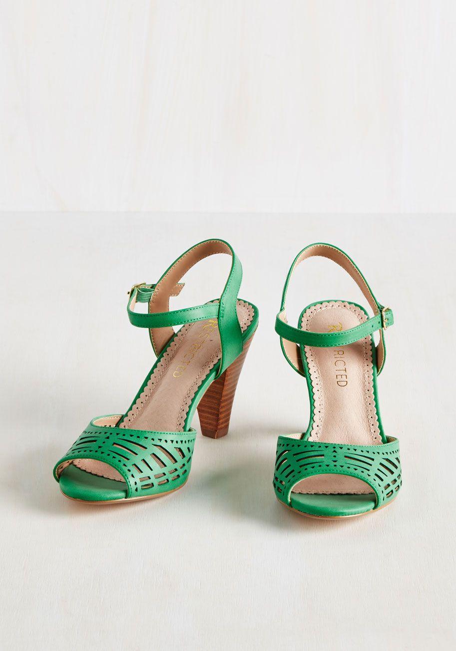 d94daf509acaa Turn Back Prime Vegan Flat | shoessss | Vintage heels, Green sandals ...