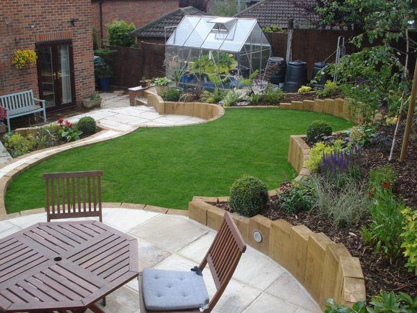 Terraced Sloped Backyard