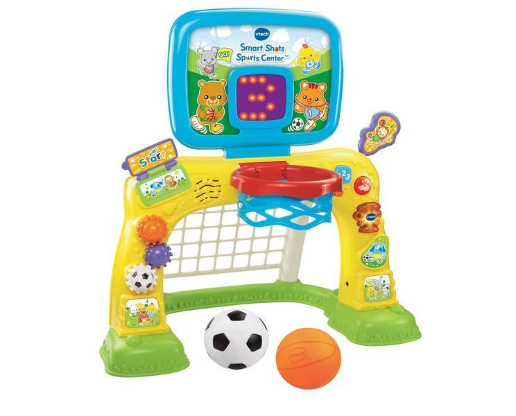 Vtech Baby Kids Toddler Toy Play Smart Shots Sports Center Soccer Basketball New Vtech Learning Toys Toys For Boys 1 Year Old Christmas Gifts