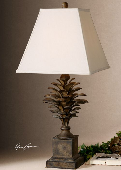 Attractive Lodge Style Table Lamps | Metal Pine Cone Table Lamp Lodge Cabin Nature  Cottage Horchow