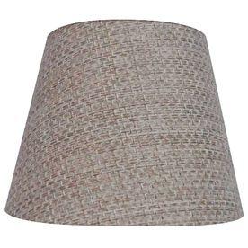 Allen Roth 5 In X 5 25 In Burlap Fabric Chandelier Lamp Shade