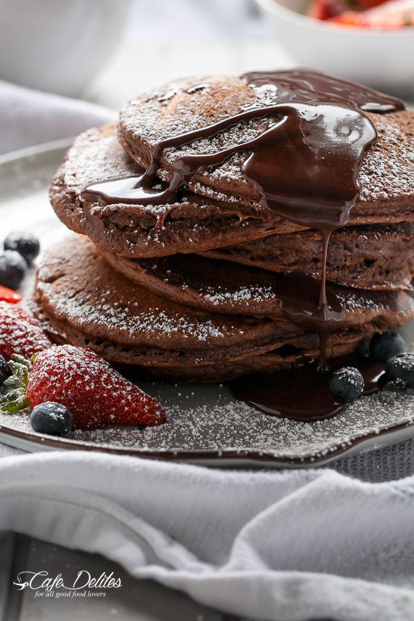 Double Chocolate Brownie Pancakes