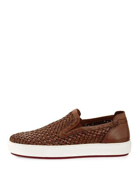 922911588433b Clark Men's Woven Leather Slip-On Sneakers   Exquisite   Shoes, Mens ...