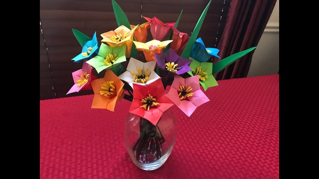 How to make paper flower bouquet origami flowers tutorials how to make paper flower bouquet origami izmirmasajfo