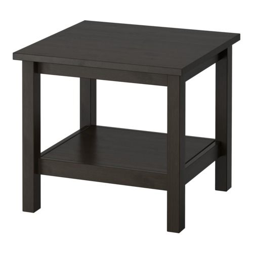 Ikea Hemnes Side Table Black Brown Solid Wood Has A Natural Feel Separate Shelf For Magazines Etc Helps You Keep Your Things Organized And The