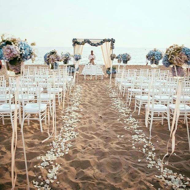 21 Ideen für eine glückselige Strandhochzeit   – Beach wedding ideas
