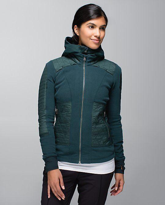 Lululemon Fleecy Keen Jacket II - Fuel Green   buzo