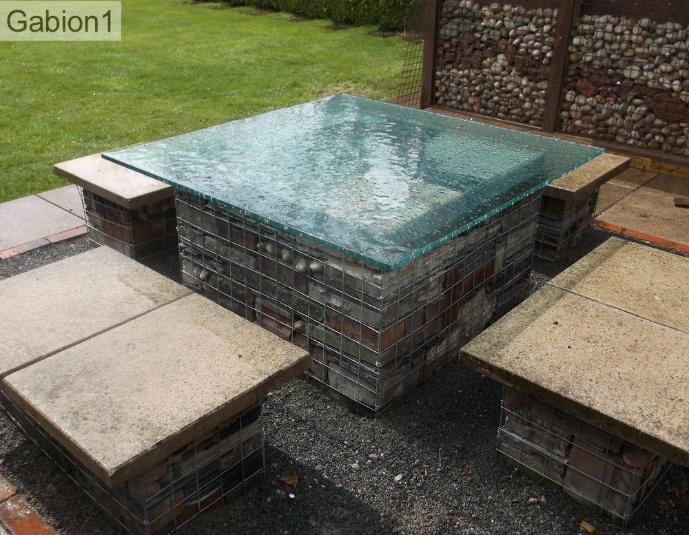 glass topped gabion outdoor table http://www.gabion1.co.uk
