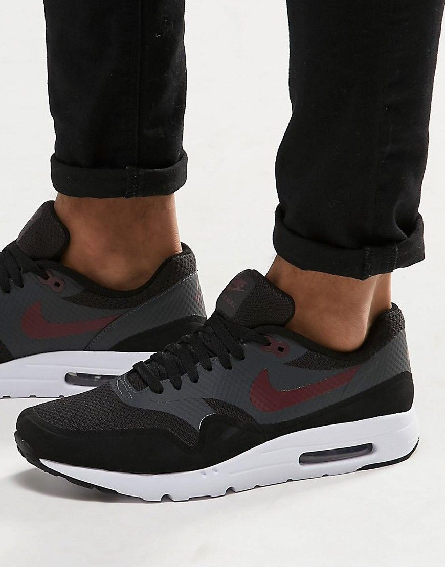 Image 1 Of Nike Air Max 1 Ultra Essential In Black 819476 002 Nike Air Max Nike Air Max Trainers Nike Air Max Sale