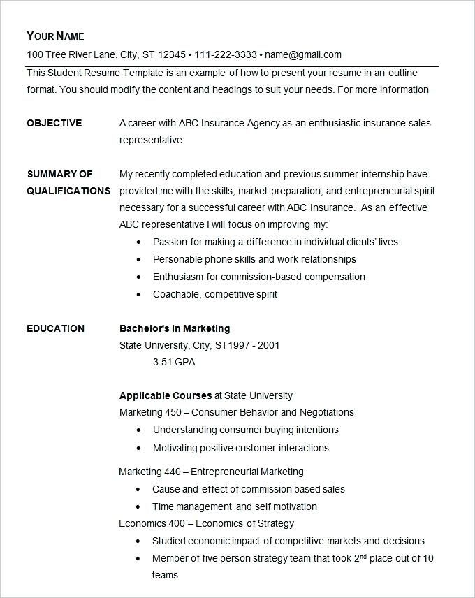 free quick easy resume templates free resume templates pinterest