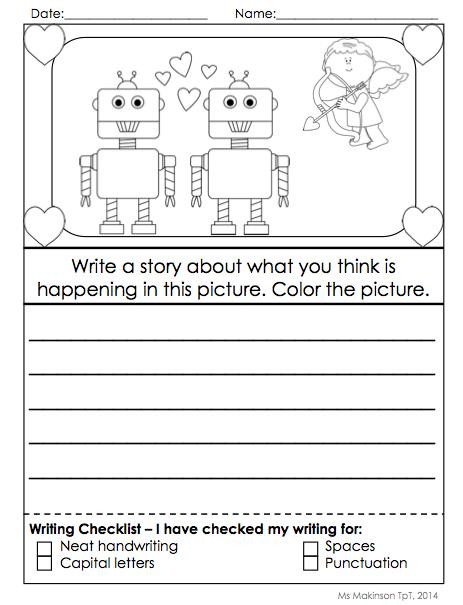 Kinder Garden: Writing Activities - February