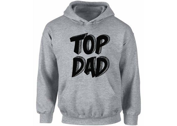 Top Dad Hoodie  Hooded Sweatshirt Daddy Fathers Day Gift Best Dad Superhero Gift for Him Birthday Gi #superherogifts