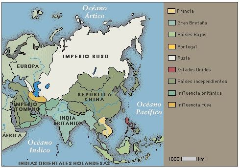 Asia en 1914  MAPAS  Pinterest