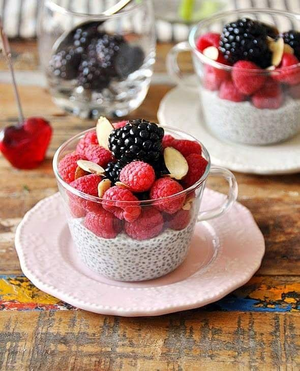 BERRIES & COCONUT CHIA SEEDS PUDDING WITH MAPLE SYRUP  (Recipe below)  Make sure to participate on giveaway contest which we are running right now. Visit us now @goforlife_se ---=-=-=-=-=-=-=-=-=-- Awesome Recipe By: fussfreecooking.com ---=-=-=-=-=-=-=-=-=-- Ingredients:  --=-=-=-=-=-- 270ml light coconut milk Maple syrup to taste (plus extra for final drizzle optional) 1/3 cup chia seeds 1 x 125g raspberries 1 x 125g blackberries A small handful of toasted almond flakes Method…
