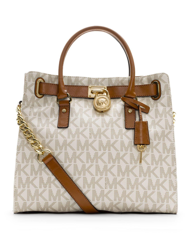 Hamilton Large Tote Bag, Vanilla MICHAEL Michael Kors