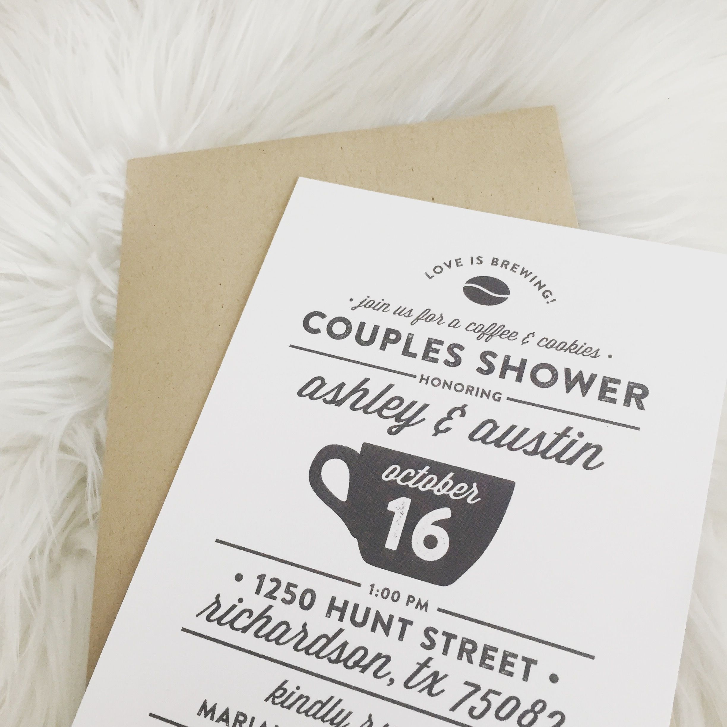 Our Love Is Brewing Couple Shower Happily Ever Ashley Rogers