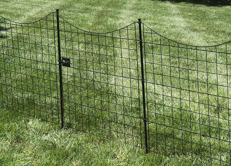 41in Tall Zippity Black Metal Garden Fence Gate   MJ Front Yard ...