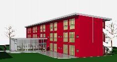 Entwurf Sporthalle und Sport Internat Karlsruhe  Designed Planungsbüro Erndwein I Karlsruhe