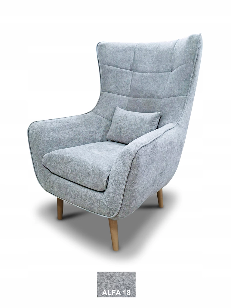 Fotel Uszak Lord Skandynawski Design Wygodny Furniture Armchair Home