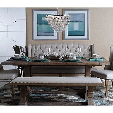 Archer Wash Oak Extending Dining Table Banquette Dining