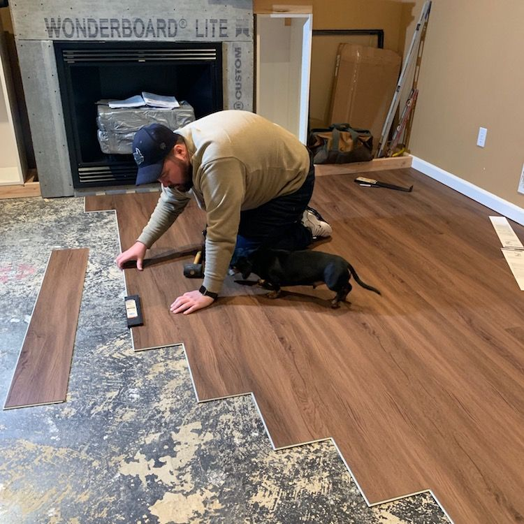 DIY Lifeproof Luxury Vinyl Plank Flooring Install Project