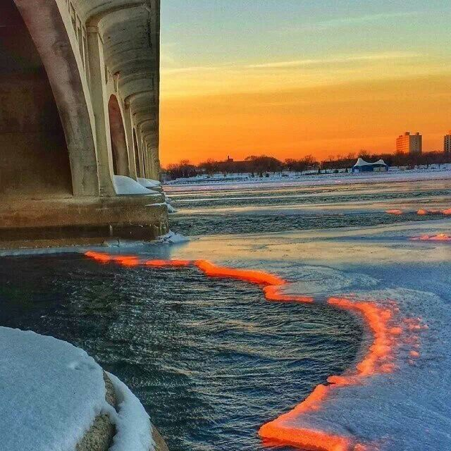 Sunrise on the Detroit River