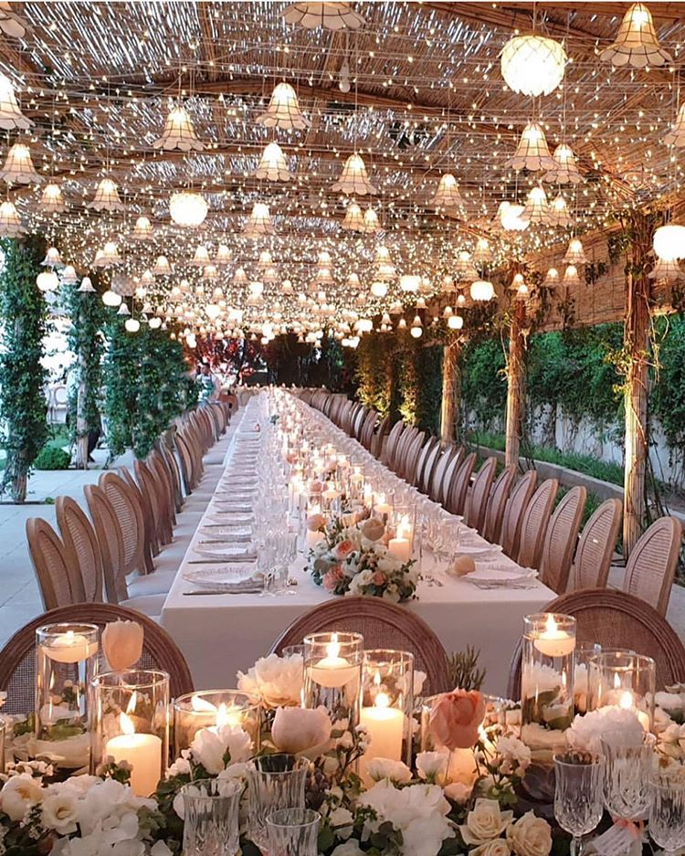 Anybody Else Want To Celebrate Their Marriage Under A Canopy Of Lights Tag A Bride Who N Summer Wedding Decorations Wedding Venue Inspiration Wedding Inspo