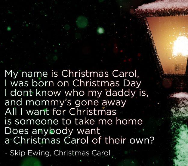 skip ewing christmas carol the 22 saddest christmas songs of all time spoiler alert santa claus adopts carol at the end sad song happy ending - Saddest Christmas Songs
