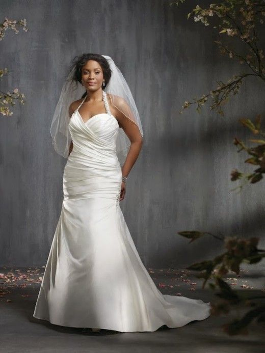 Halterneck plus size summer wedding dress 2014-2015 | Plus Size ...