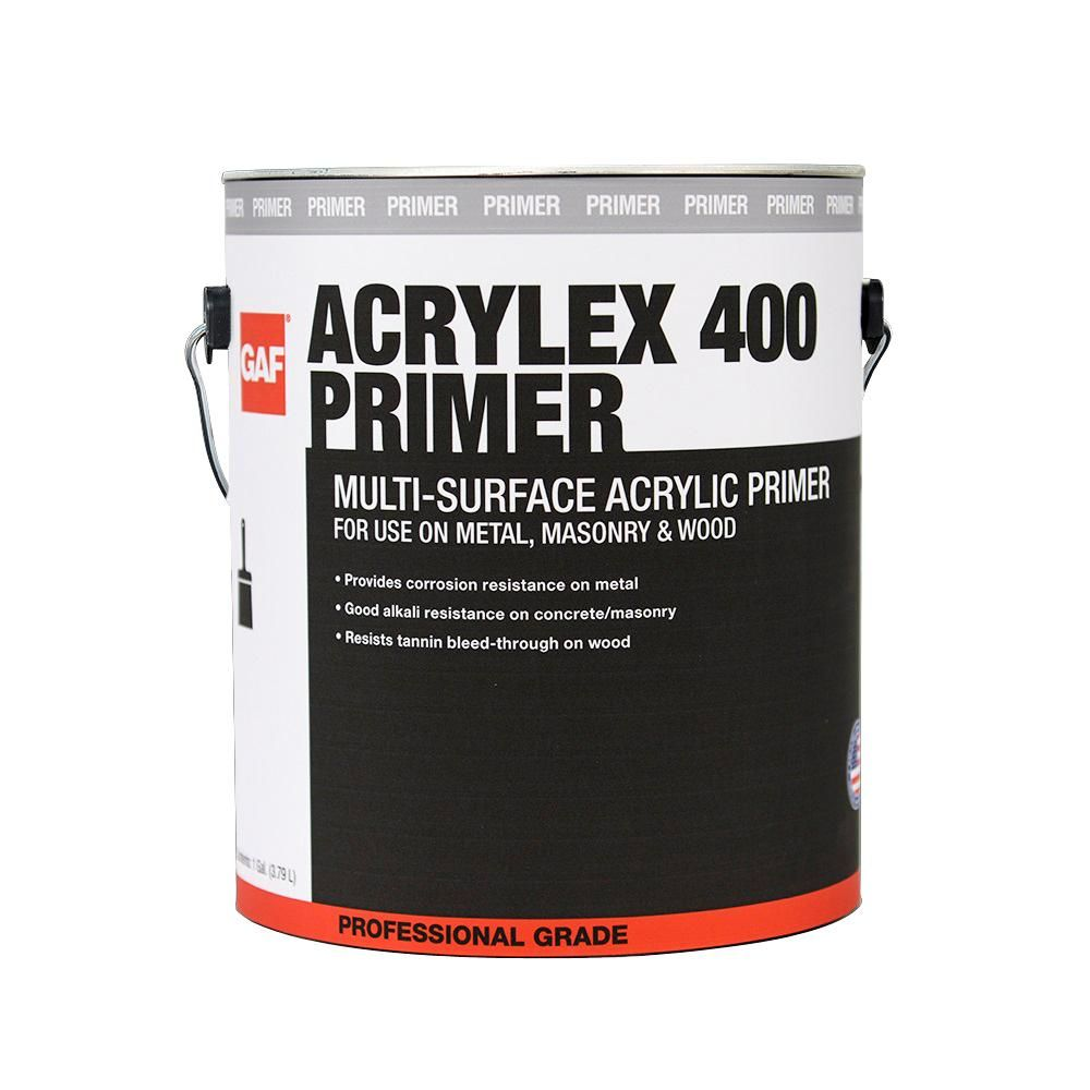Gaf Acrylex 400 1 Gal Multi Surface Professional Grade Acrylic Primer 890113920 The Home Depot In 2020 Acrylic Primer Roof Coating Elastomeric Roof Coating