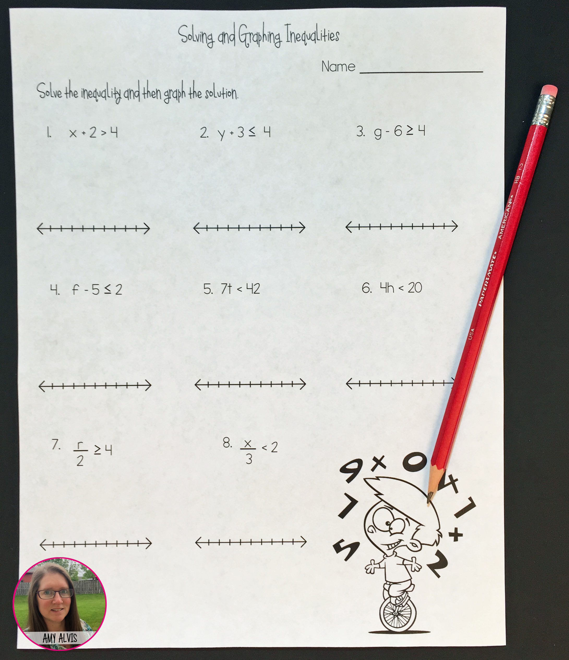 Solving And Graphing Inequalities No Prep Printable