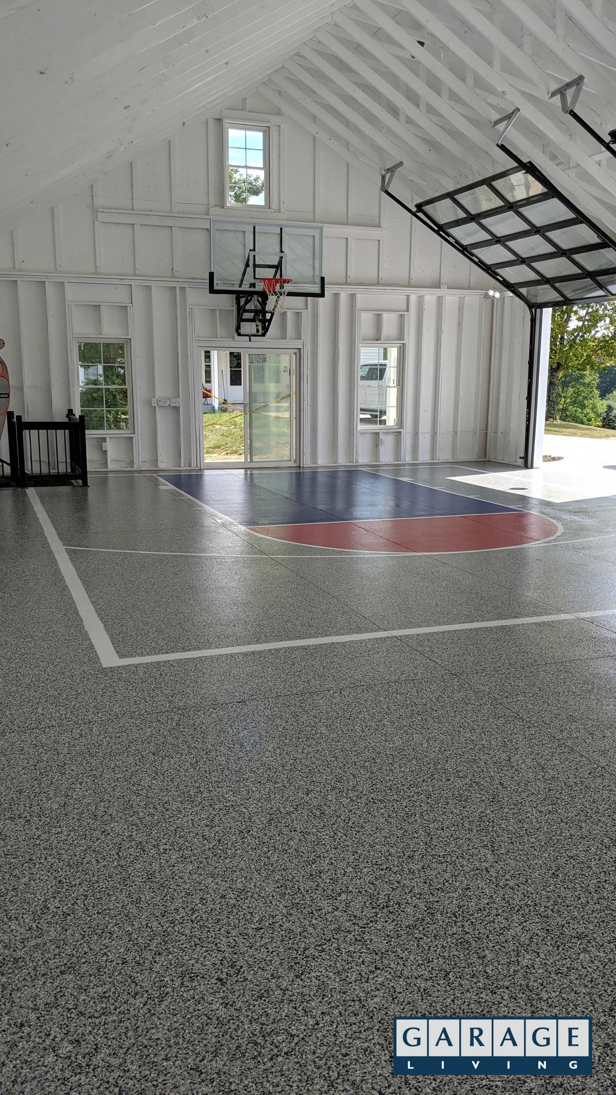 On The Downside The Chain Drive System Makes More Noise Than The Screw Drive System The Chain Home Basketball Court Indoor Basketball Court Indoor Basketball