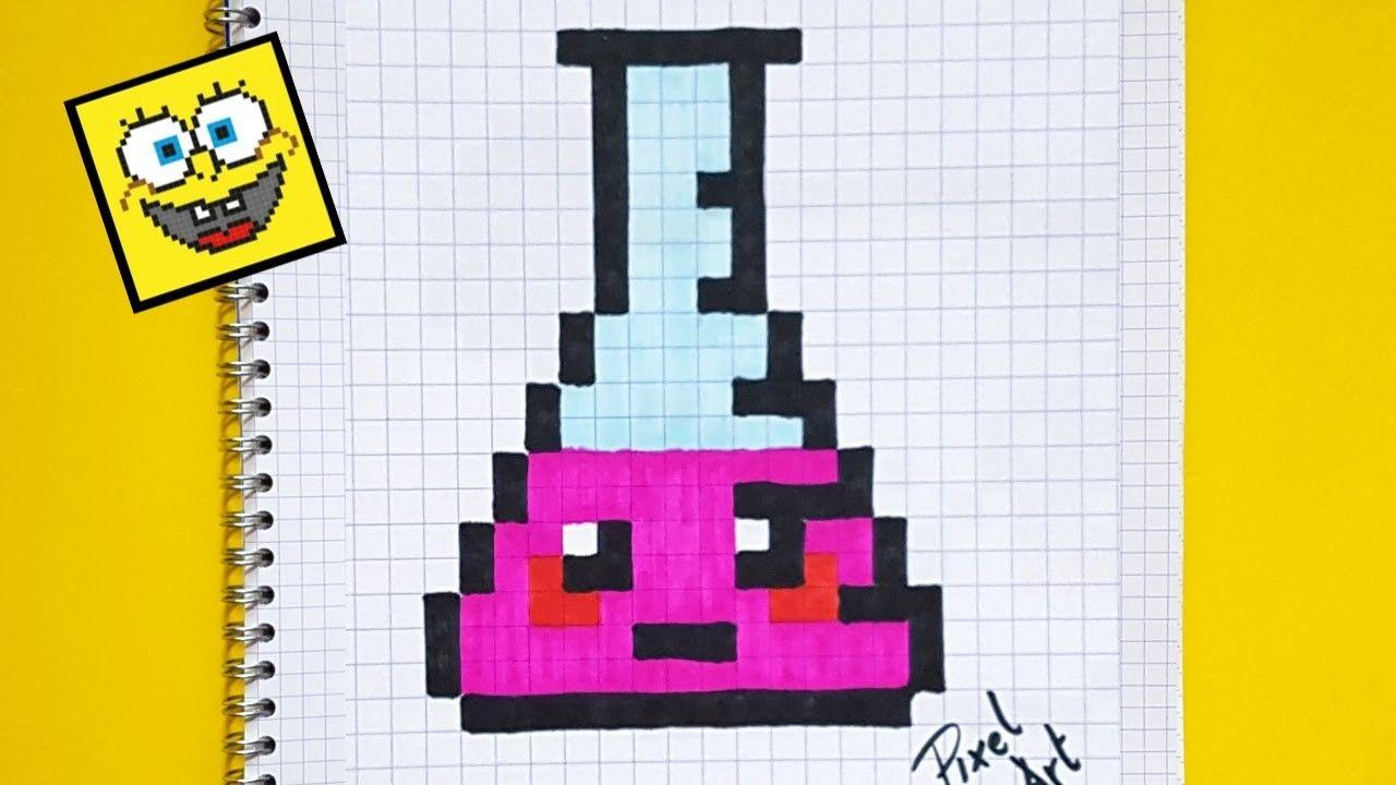 Pixel Art Comment Dessiner Une Fiole Kawaï Pixel Art