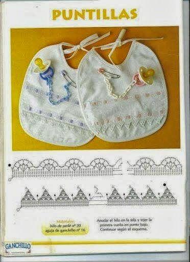 Tejido Facil: Patrón: puntillas para bebés y baberos :)