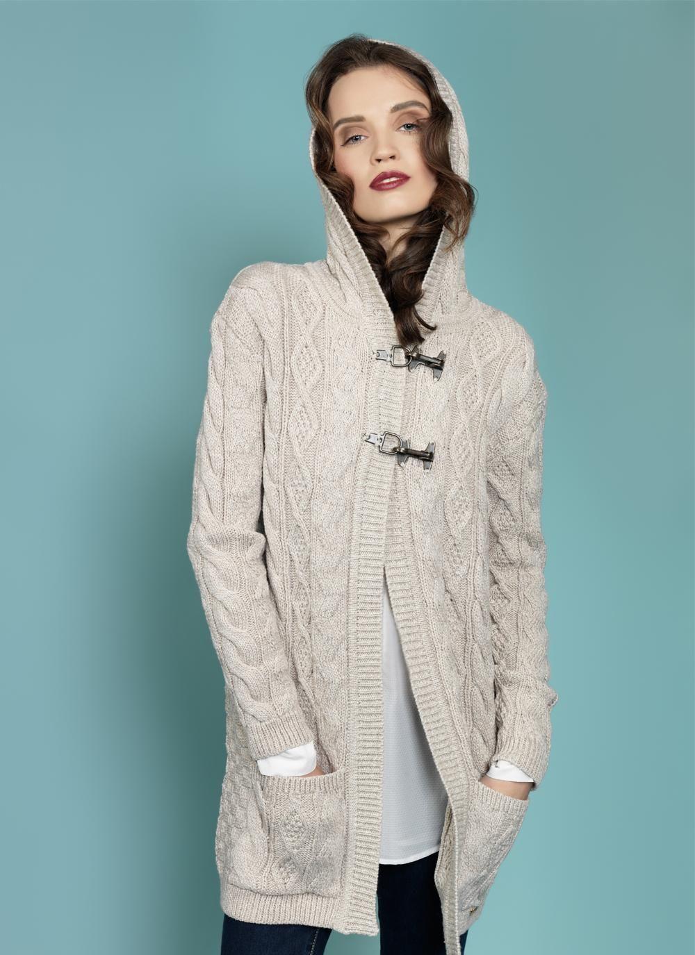 Catherine Aran Hooded Cardigan | * * Vêtements et Accessoires ...