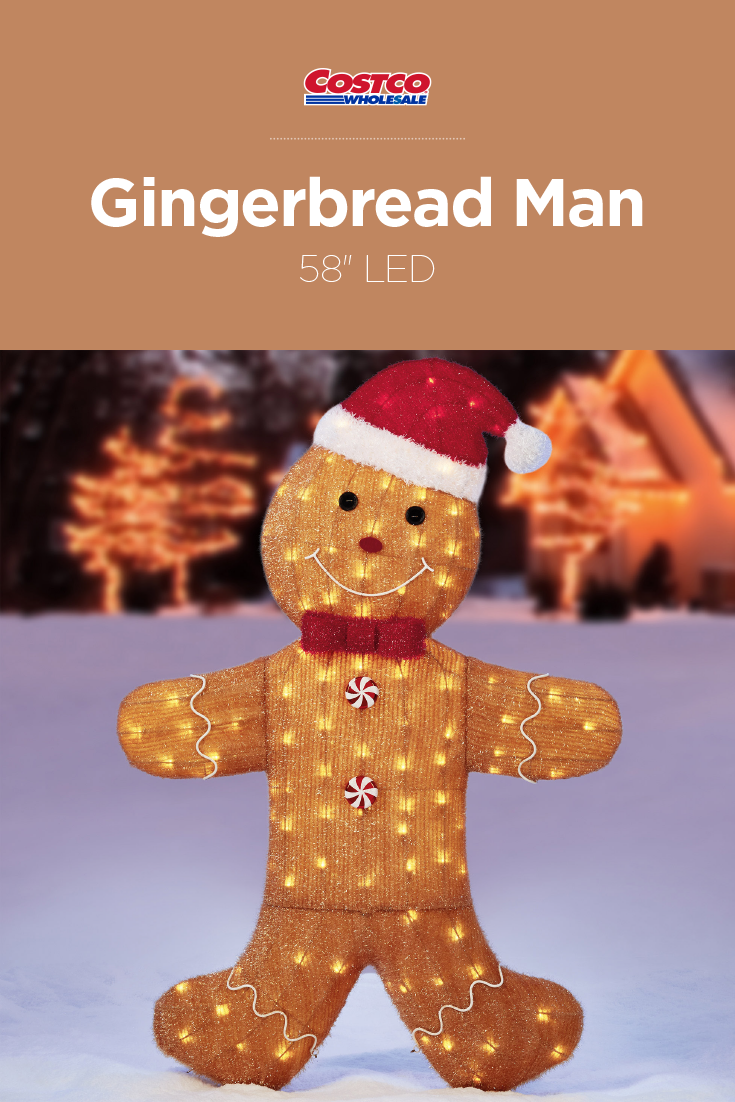 Celebrate The Holiday Season With This Lighted Whimsical Gingerbread Man Suitable For Indoor Outdoor Use And Featur Decor Festival Decorations Outdoor Decor