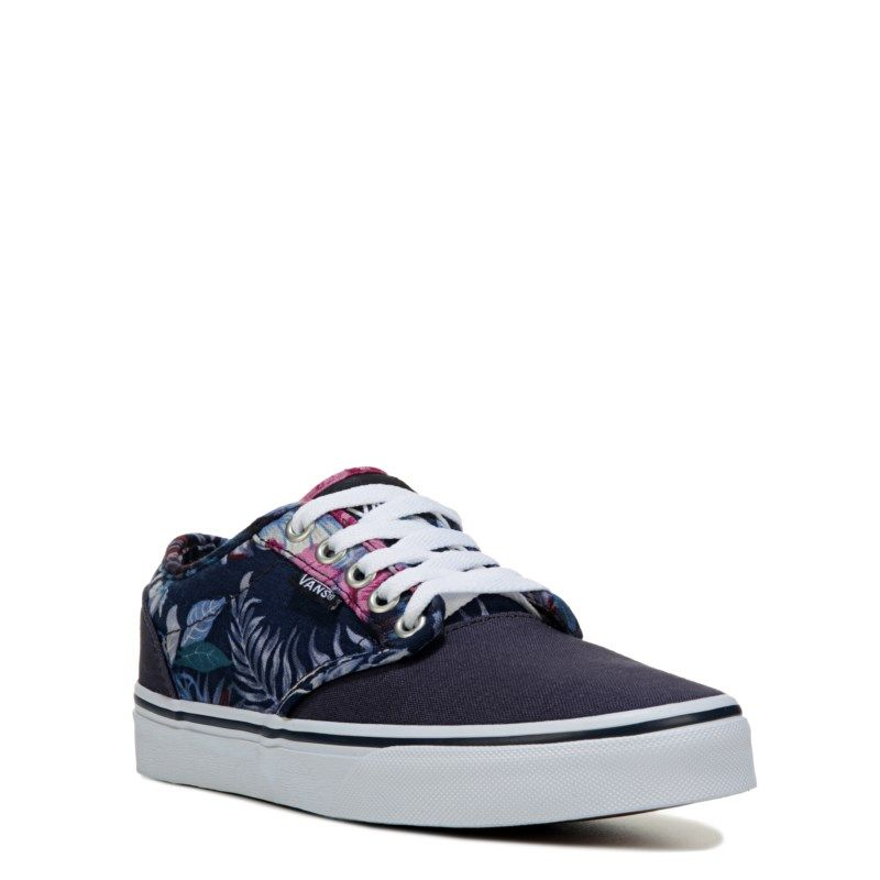 Vans Women s Atwood Low Sneakers (Blue Floral) - 10.0 M  7c14fe813bcc
