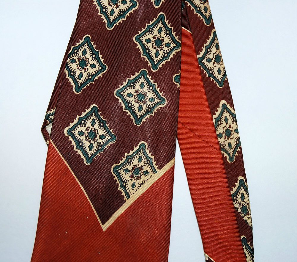 Vintage Men's 40's 50's Steigers Tie Art Deco Geometric Jazz Swing Rockabilly  #NeckTie
