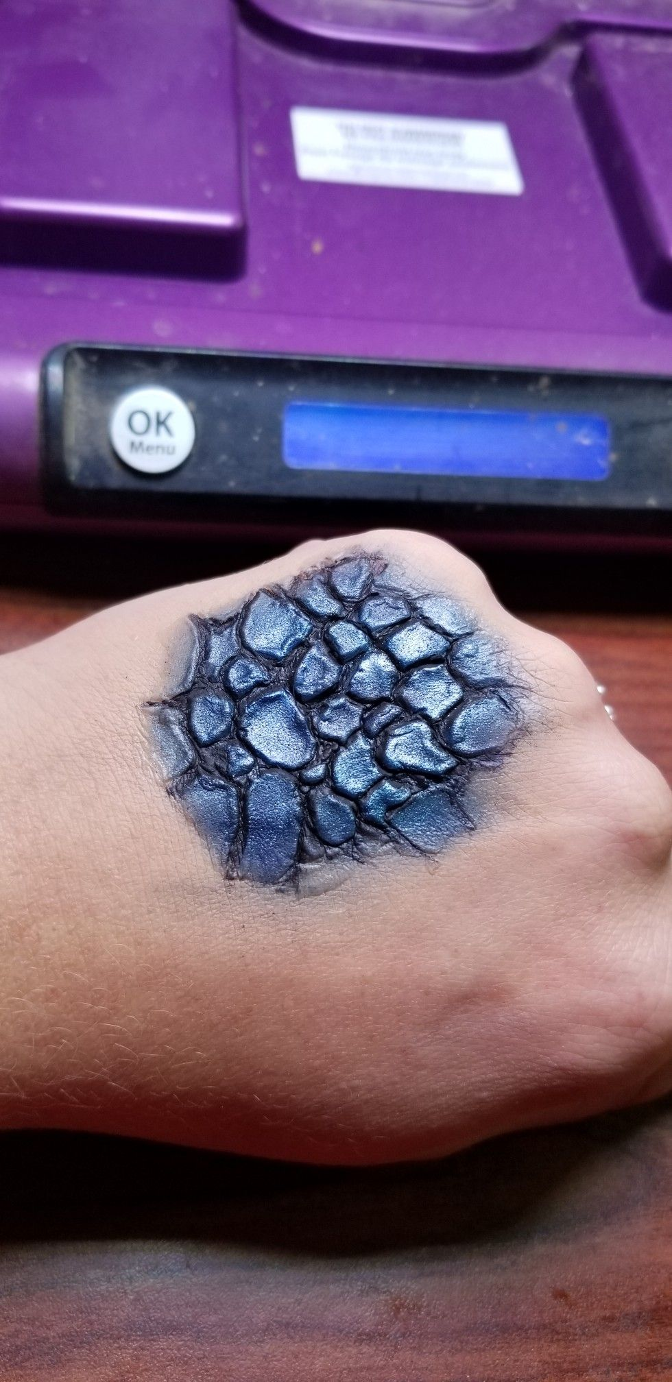 Easy Dragon Scale Tutorial Using Nothing But Mehron Synwax And