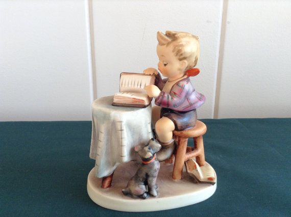 M.I. Hummel Little Bookkeeper TMK-6 by FlorabundaVintage on Etsy