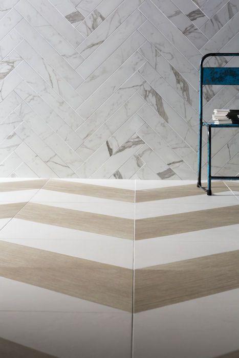 Colour Block Oak White Blend Decorative \ Glazed with Mimica