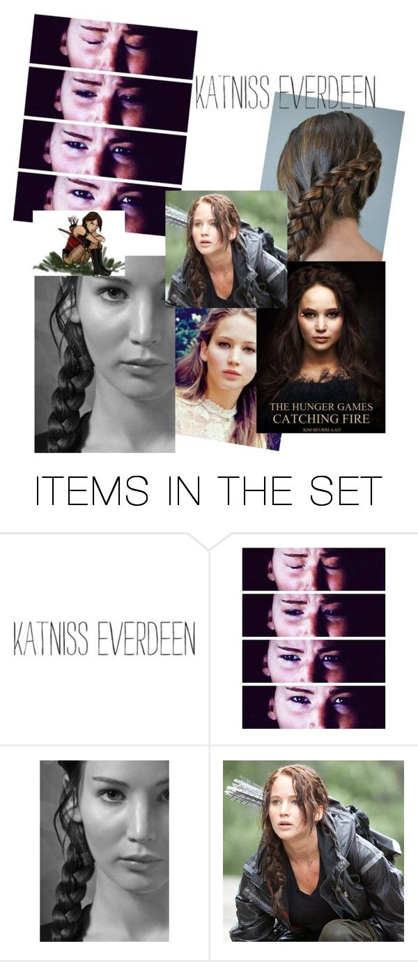 """""""KATINISS everdeen"""" by kaythebae ❤ liked on Polyvore featuring art"""