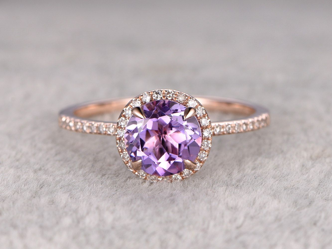 product violet three p ring wedding purple classic diamond stone solitaire gold rings black engagement