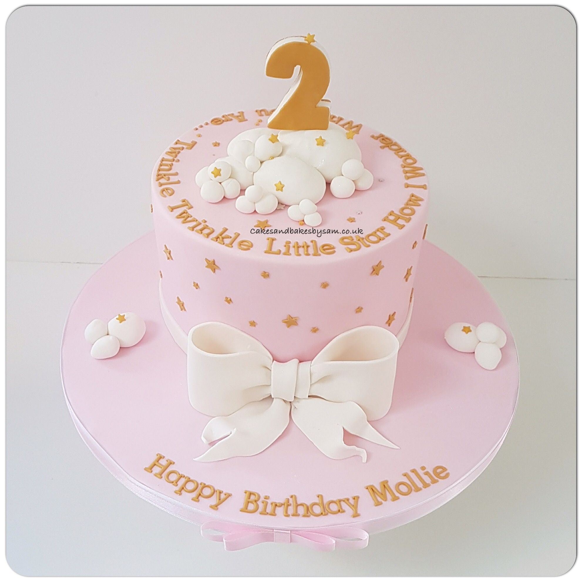 Pink And Gold Twinkle Twinkle Little Star Birthday Cake Cakes