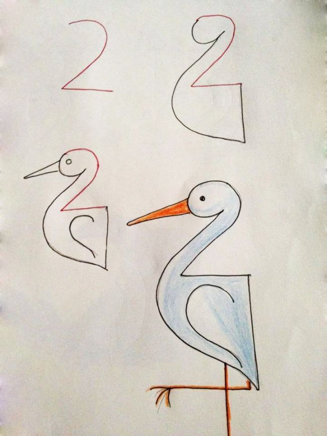 20 Creative And Easy Kid Friendly Drawings That Are Made With Numbers As A Base