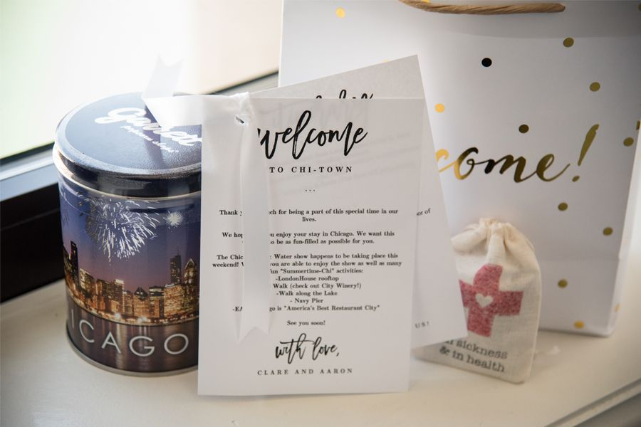 Chicago Wedding Welcome Bag Ideas