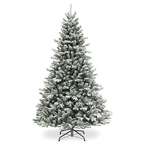 12 Ft Flocked Christmas Tree: SPARKS Flocked Artificial Christmas Tree 7.5 Ft Unlit
