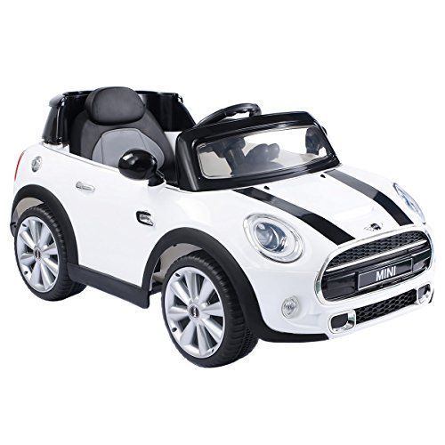 Costzon White BMW Mini Cooper 12V Electric Kids Ride On