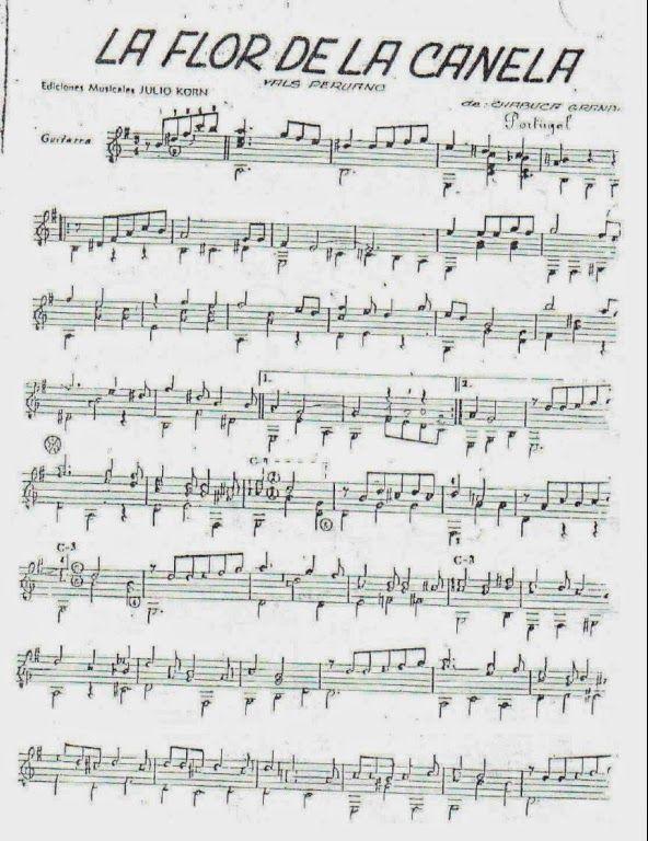 Partituras para Guitarra: Chabuca Granda - La flor de la canela ...